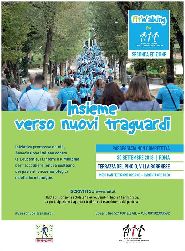 Fitwalking 30 09 2018 Roma Fitwalking For Ail