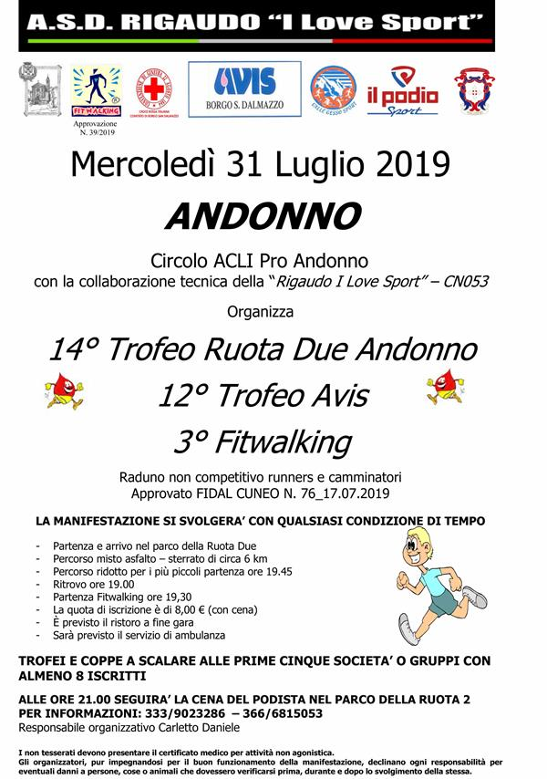 ANDONNO (Cn) - Trofeo Ruota Due - sez. Fitwalking